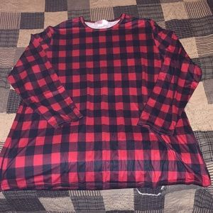 Women's Buffalo Plaid Tunic Shirt Blouse